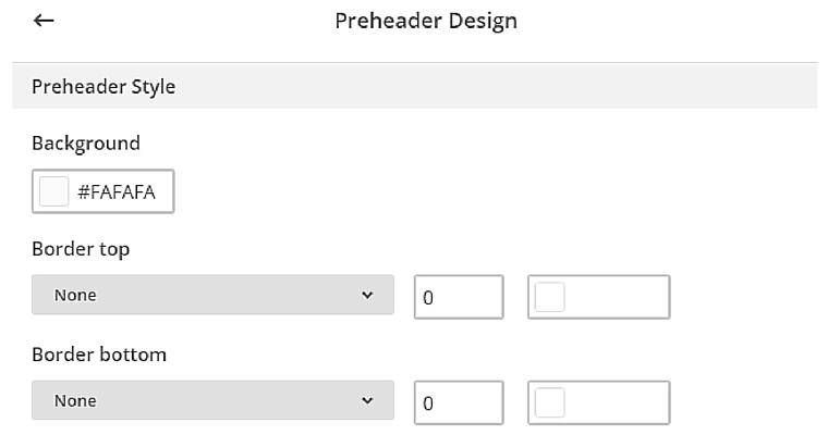 Preheader Design